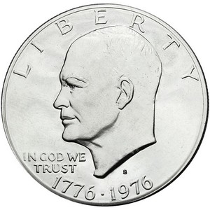 1976 S Eisenhower Clad Dollar PF Type 2