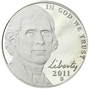 2011 S Jefferson Nickel PF