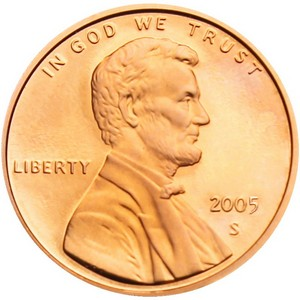2005 S Lincoln Cent Memorial Reverse PF