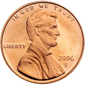 2006 S Lincoln Cent Memorial Reverse PF
