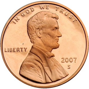 2007 S Lincoln Cent Memorial Reverse PF