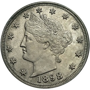 1898 Liberty Nickel AG/G