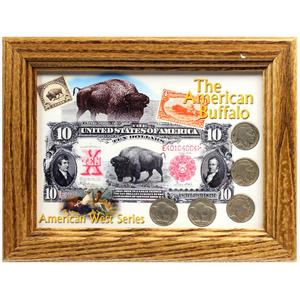The American Buffalo Frame and Buffalo Nickel Coin Set