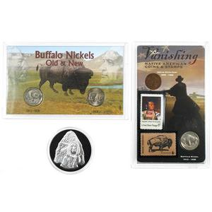 Old West Coin Stamp and Medallion Set