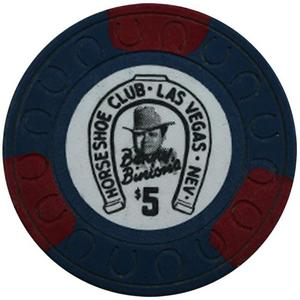 Horseshoe Club Las Vegas Nevada Benny Binion 100pc Box of $5 Poker Chips