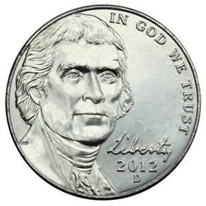 2012 D Jefferson Nickel BU