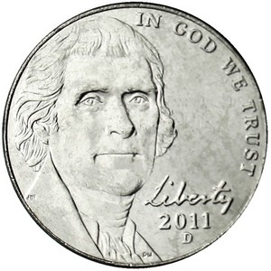 2011 D Jefferson Nickel BU