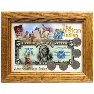 The American Indian Frame and Buffalo Nickel Coin Set