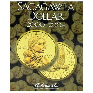 2000-2004 P and D Mint Uncirculated Sacagewea Dollar in H.E. Harris Folder