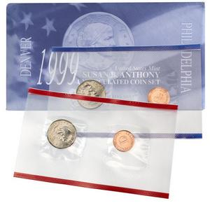 1999 P & D Susan B Anthony Dollar Coin Mint Set