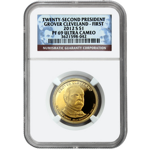 2012 S Grover Cleveland First Term Presidential Dollar PF69 UC NGC
