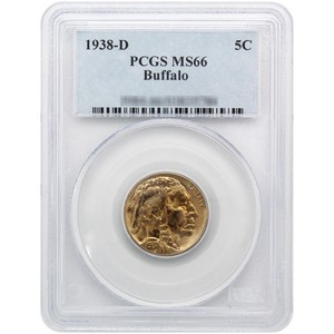 1938 D Buffalo Nickel MS66 PCGS