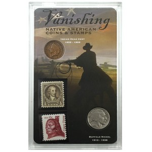 Vanishing Native American Stamps and Coin Set