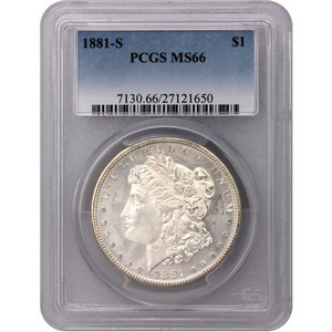 Common Date Morgan Silver Dollar MS66 PCGS