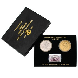 1492-1992 Columbus 500th Anniversary Commemorative Discovery Set