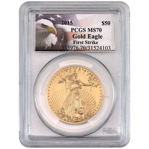 2015 Gold American Eagle 1oz MS70 FS PCGS Eagle Label