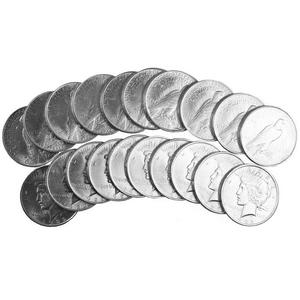 Silver Peace Dollars 20pc Dates Our Choice AU-BU