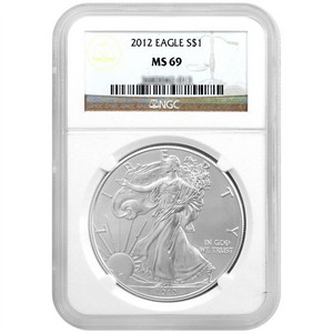2012 Silver American Eagle MS69 NGC Brown Label