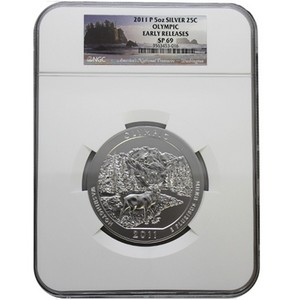 2011 P America The Beautiful Silver 5oz Olympic SP69 ER NGC