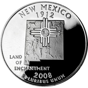 2008 S Silver New Mexico State Quarter PF