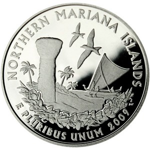 2009 S Silver Northern Mariana Islands US Territories Quarter PF