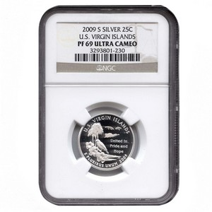 2009 S Silver US Virgin Islands US Territories Quarter PF69 UC NGC