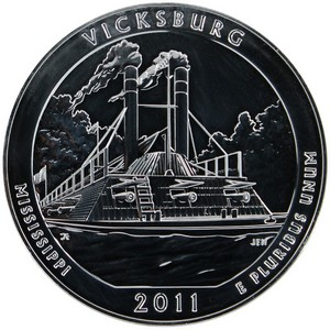 2011 America The Beautiful Silver 5oz Vicksburg UNC