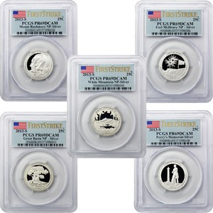 2013 S America the Beautiful Silver Quarters PR69 DCAM FS PCGS 5 Coin Set