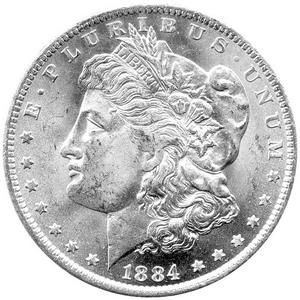 1886 S Morgan Silver Dollar UNC