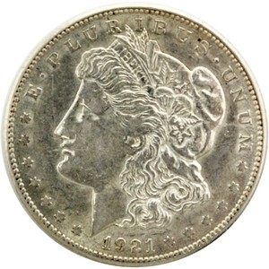 1921 S Morgan Silver Dollar AU