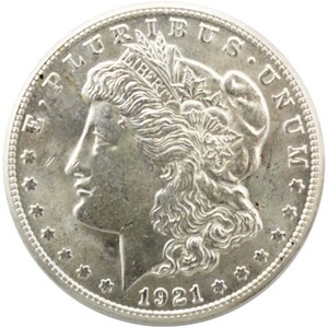 1921 S Morgan Silver Dollar UNC