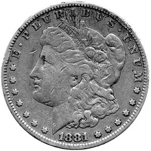 1921 S Morgan Silver Dollar VG