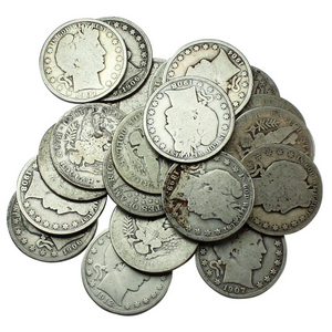 20pc Circulated Silver Barber Quarter Grab Bag