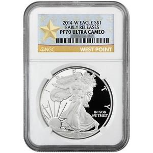 2014 W Silver American Eagle PF70 UC ER NGC Star Label