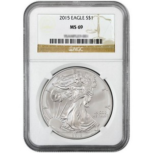 2015 Silver American Eagle MS69 NGC Brown Label