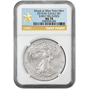 2015(W) Silver American Eagle Struck at WP MS70 ER NGC Star Label