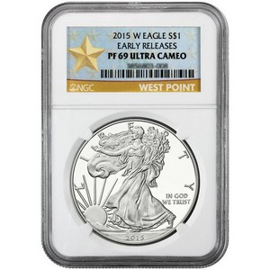 2015 W Silver American Eagle PF69 UC ER NGC Star Label