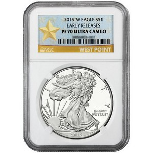 2015 W Silver American Eagle PF70 UC ER NGC Star Label