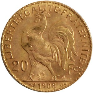 France Rooster Gold 20 Francs Date Our Choice