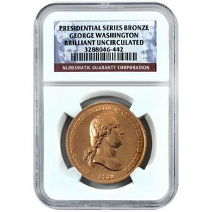 George Washington Bronze Series BU NGC Presidential Label