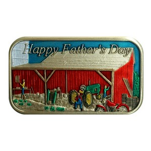 Fathers Day Barn Bronze Enameled Bar