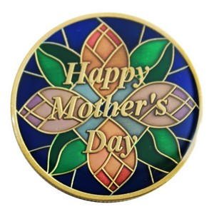 Mothers Day Bronze Medallion Enameled