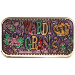 Mardi Gras Bronze Bar Enameled