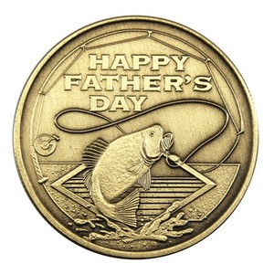 Fathers Day Fishing Bronze Medallion