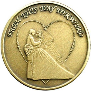 Wedding Couple Bronze Medallion