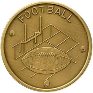Football Bronze Medallion