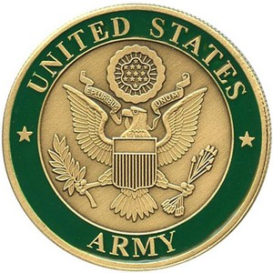 US Army Bronze Medallion Enameled