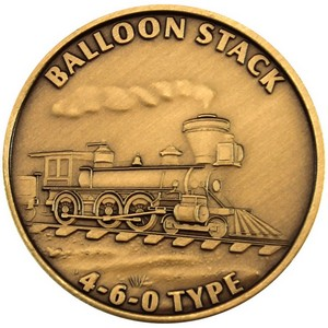 Train Balloon Stack 460 Type Bronze Medallion