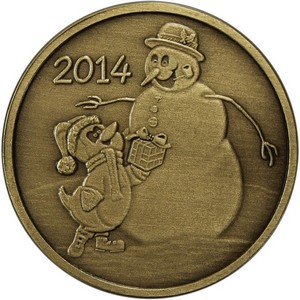 2014 Snowman and Penguin Gift Bronze Medallion