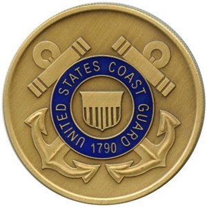 US Coast Guard Bronze Medallion Enameled